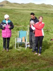 Anja Stratford collecting individual trophy